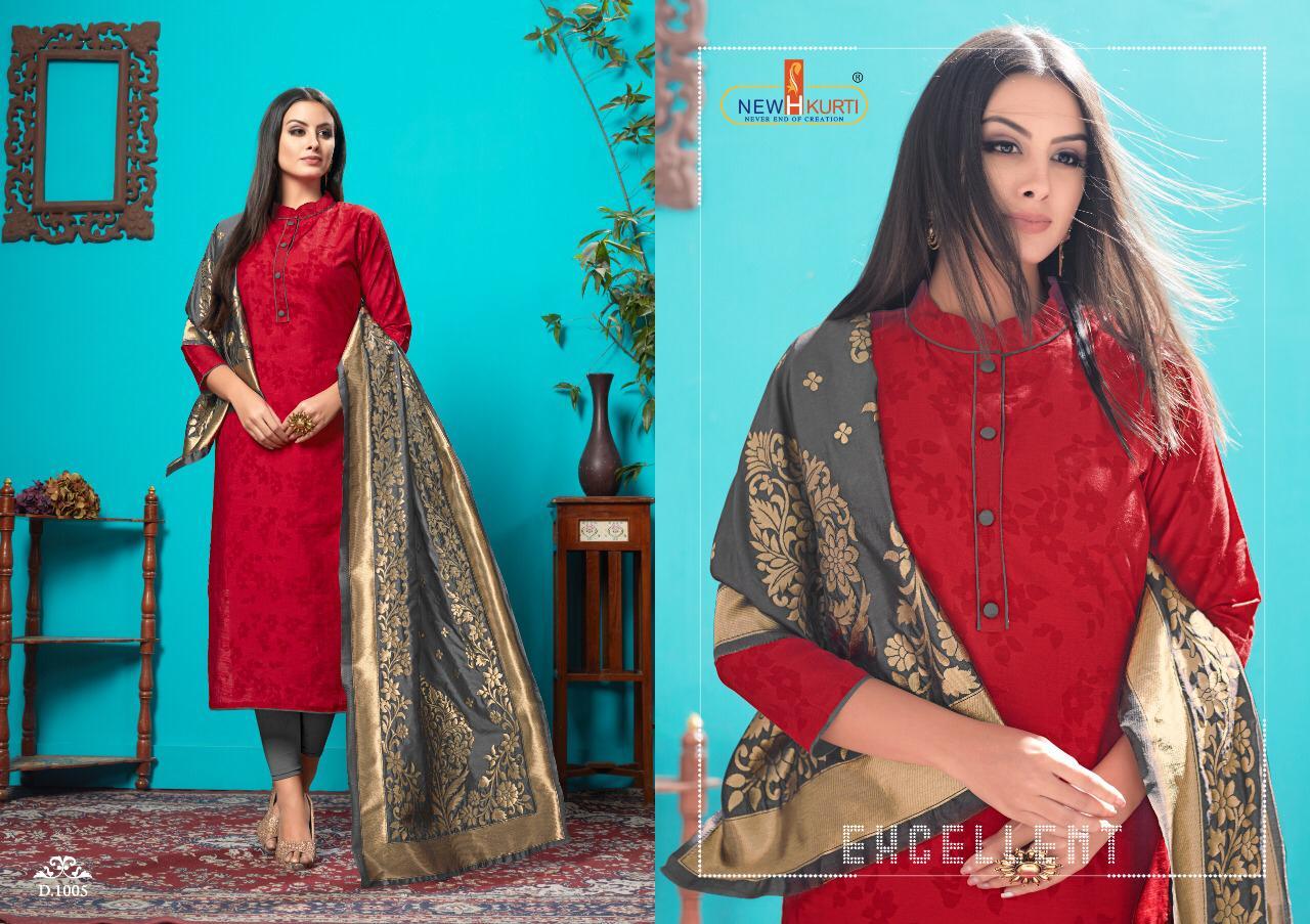 Tunic Carmel- Banarasi New Desinger Printed Suits Wholsale