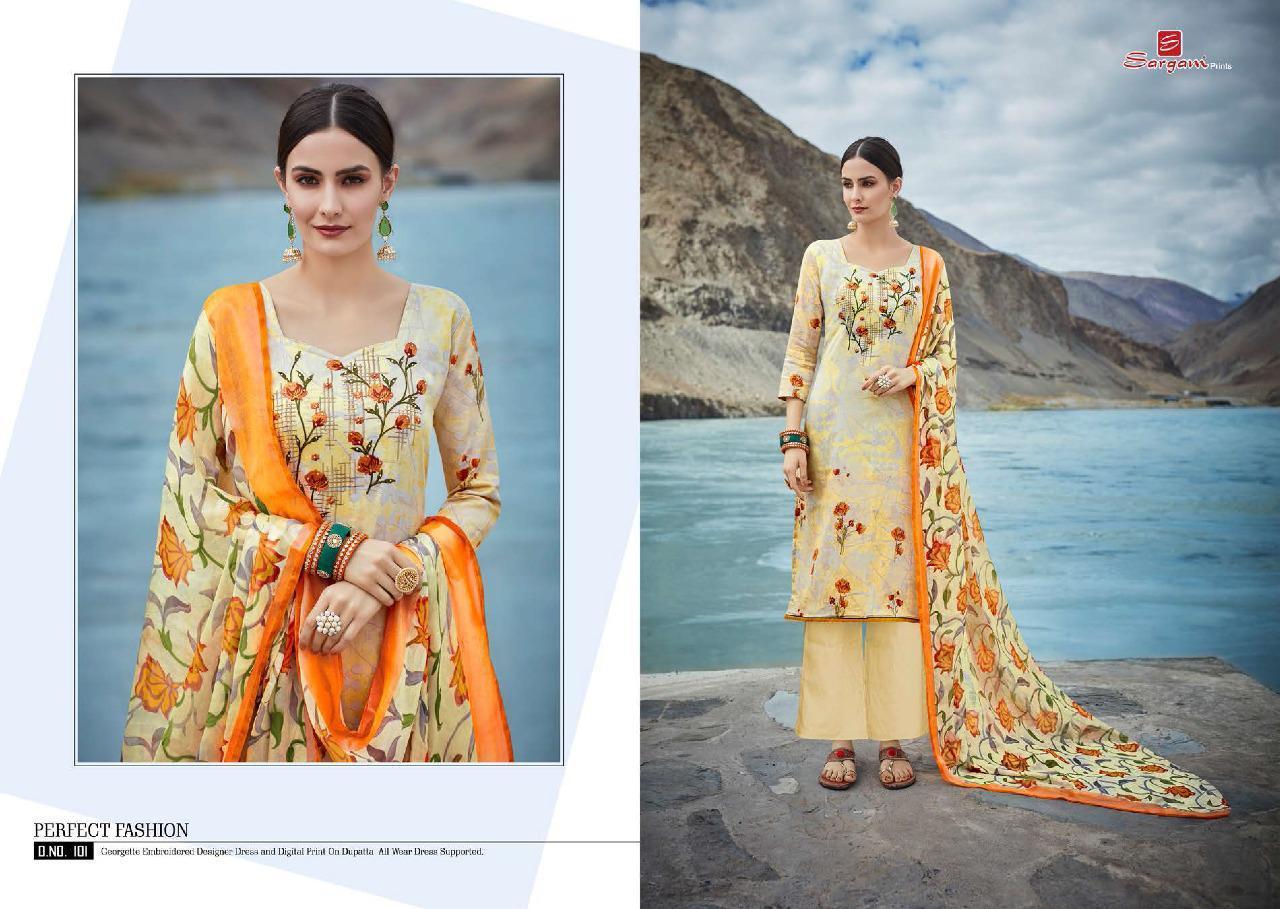 Sargam Prints Zohraa New Designer Work Suits Wholsale
