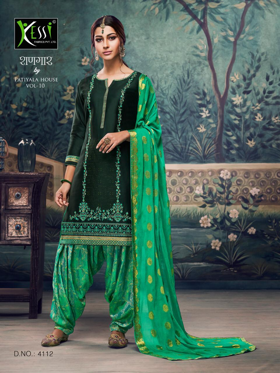 Kessi Fabrics Shangar By Patiyala Vol10 Suits Wholesale
