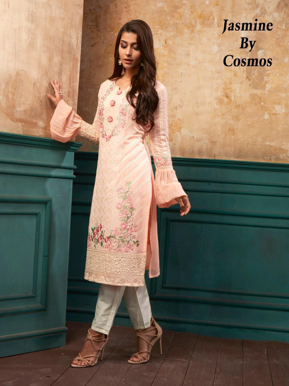 Cosmos Jasmin Designer Partywear Long Kurti Wholesale