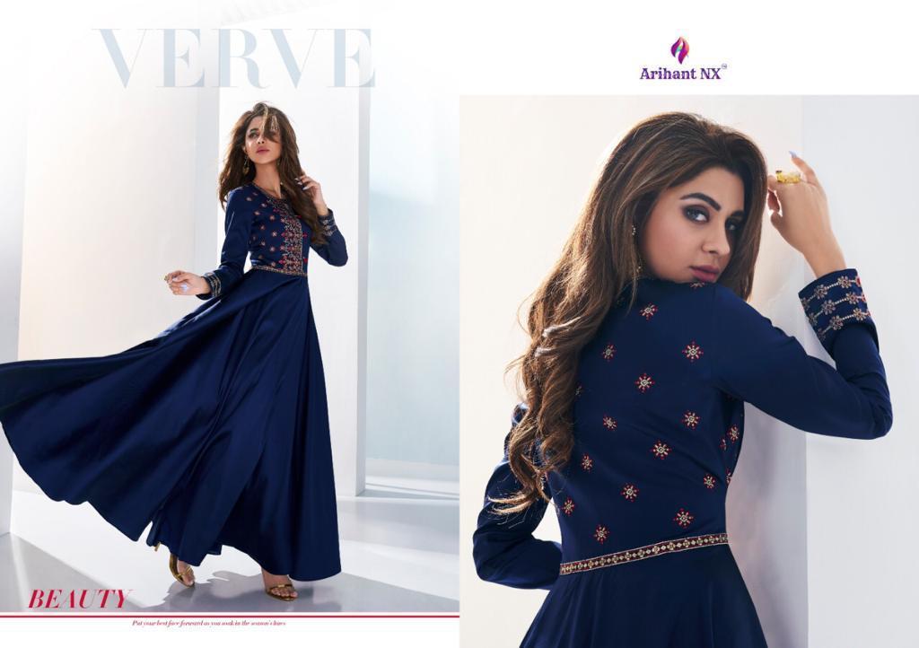 Arihan Nx Saanvi Designer Gown Pettern Kurtis Wholesale