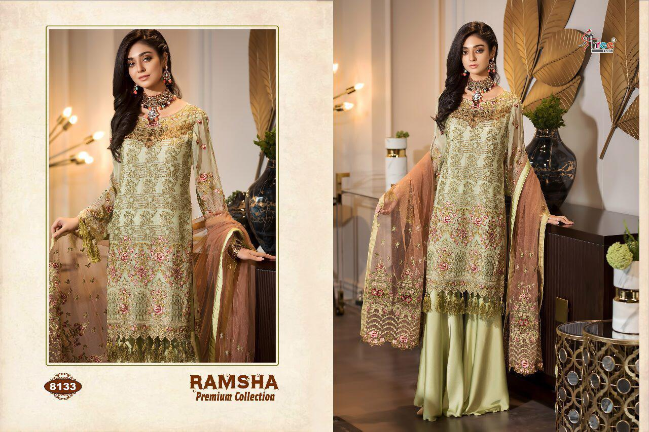 Shree Fab Ramsha Premium Collection Designer Suits Wholesale