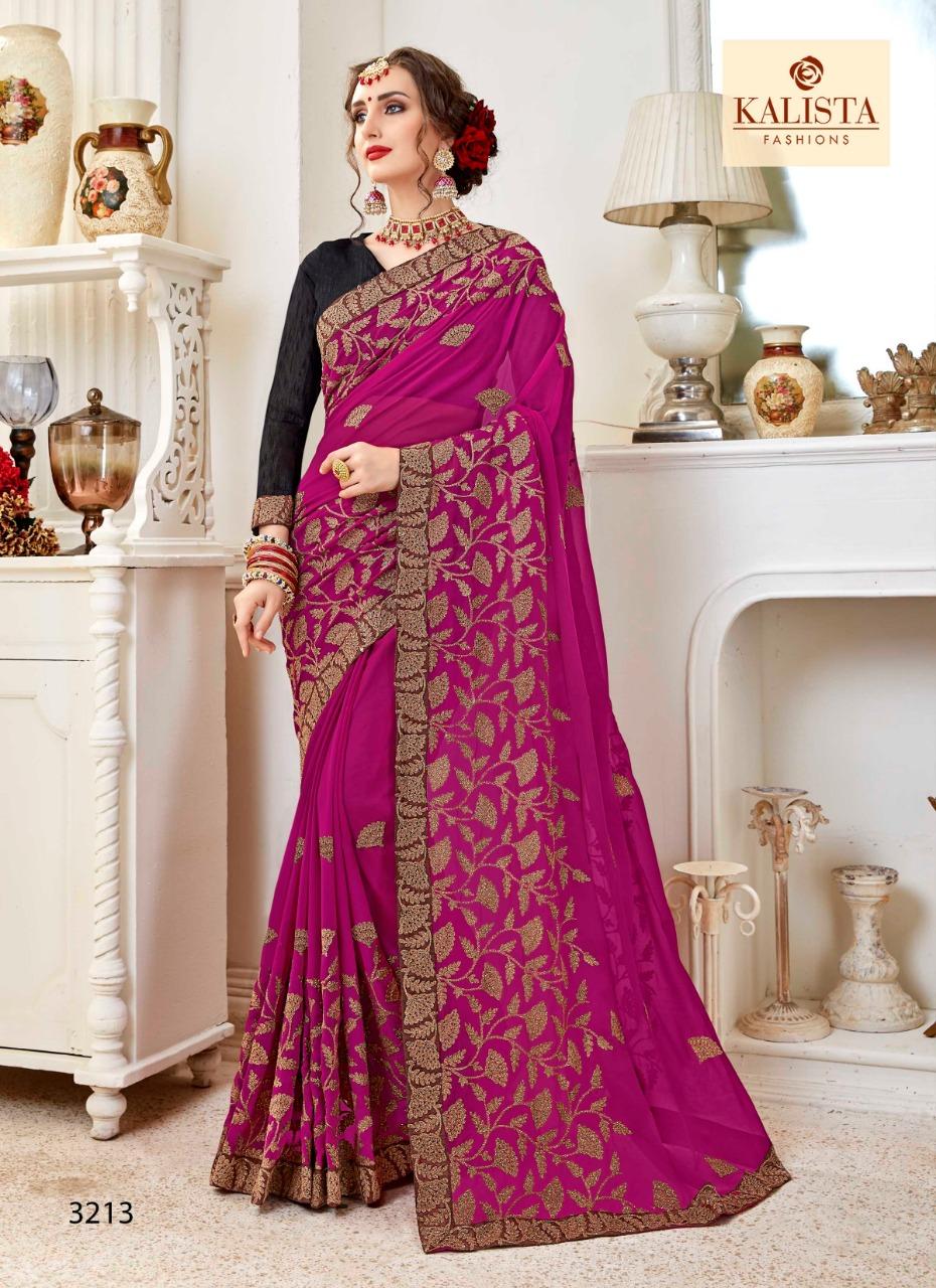 Kalista Amirah 2 Designer Georgette Sarees Best Wholesale Rate
