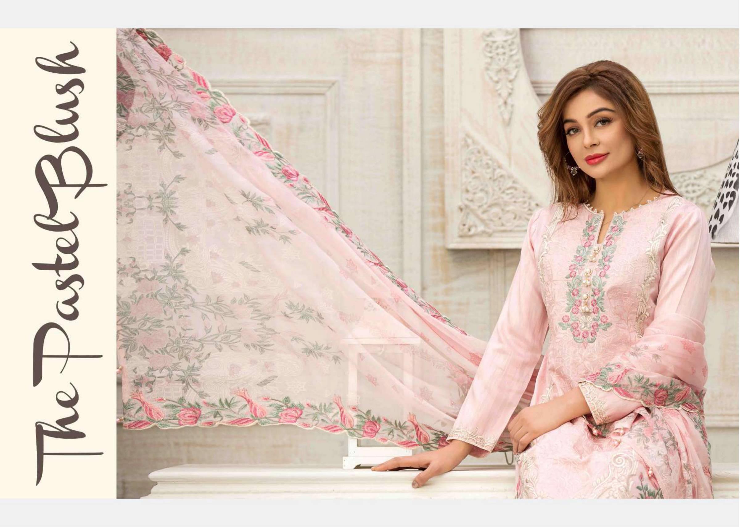 Tawakkal Sylvan Fancy Viscose Lawn Semistiched Original Pakistani Suits Wholesale Rate