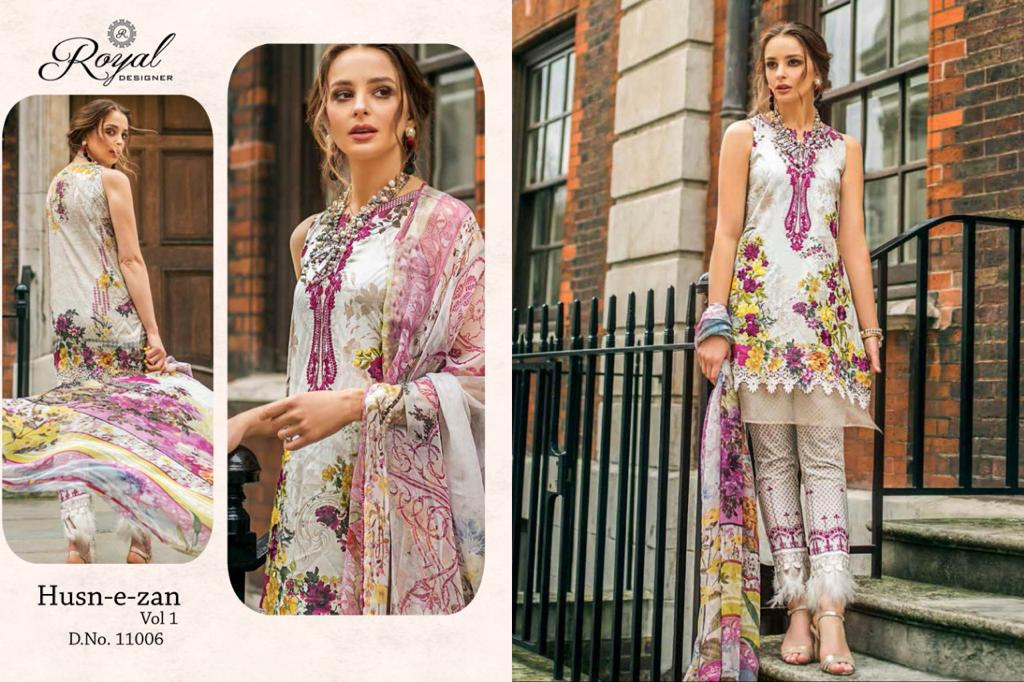 Royal Designer Husn E Zan Designer Cambric Cotton With Heavy Embroidered Suits In Wholesale Rate