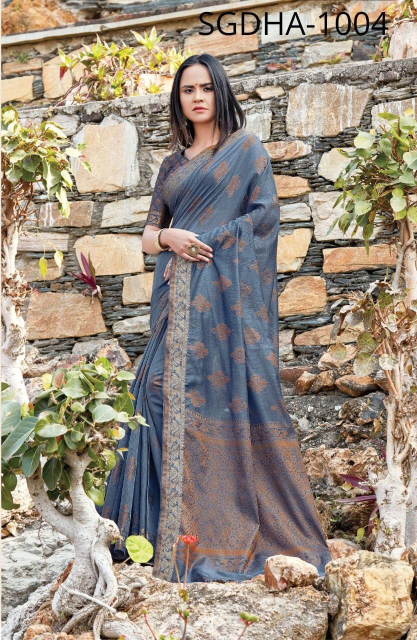 Sangam Saree Dhakai Designer Parry Wear Fancy Saree Wholesale