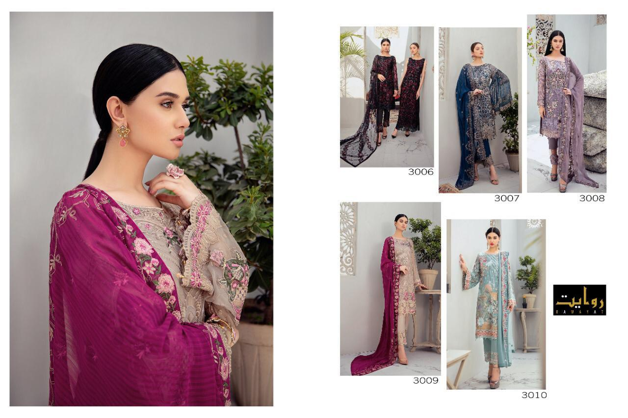 Rawayat Ramsha Vol 2 Chiffon - 2020 Designer Georgette Heavy Self Embroidery Work Suits Wholesale