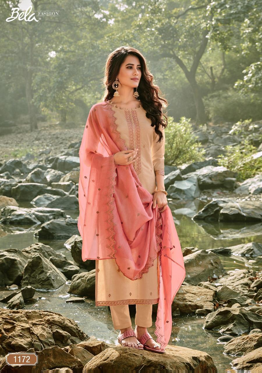 Bela Jashan-2 1170 To 1177 Series Designer Cotton Chanderi Work Suits Wholesale