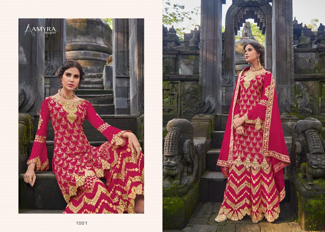 Amyra Celebrity Real Georgette With Heavy Exclusive Embroidery With Diamond Work Suits Wholesale