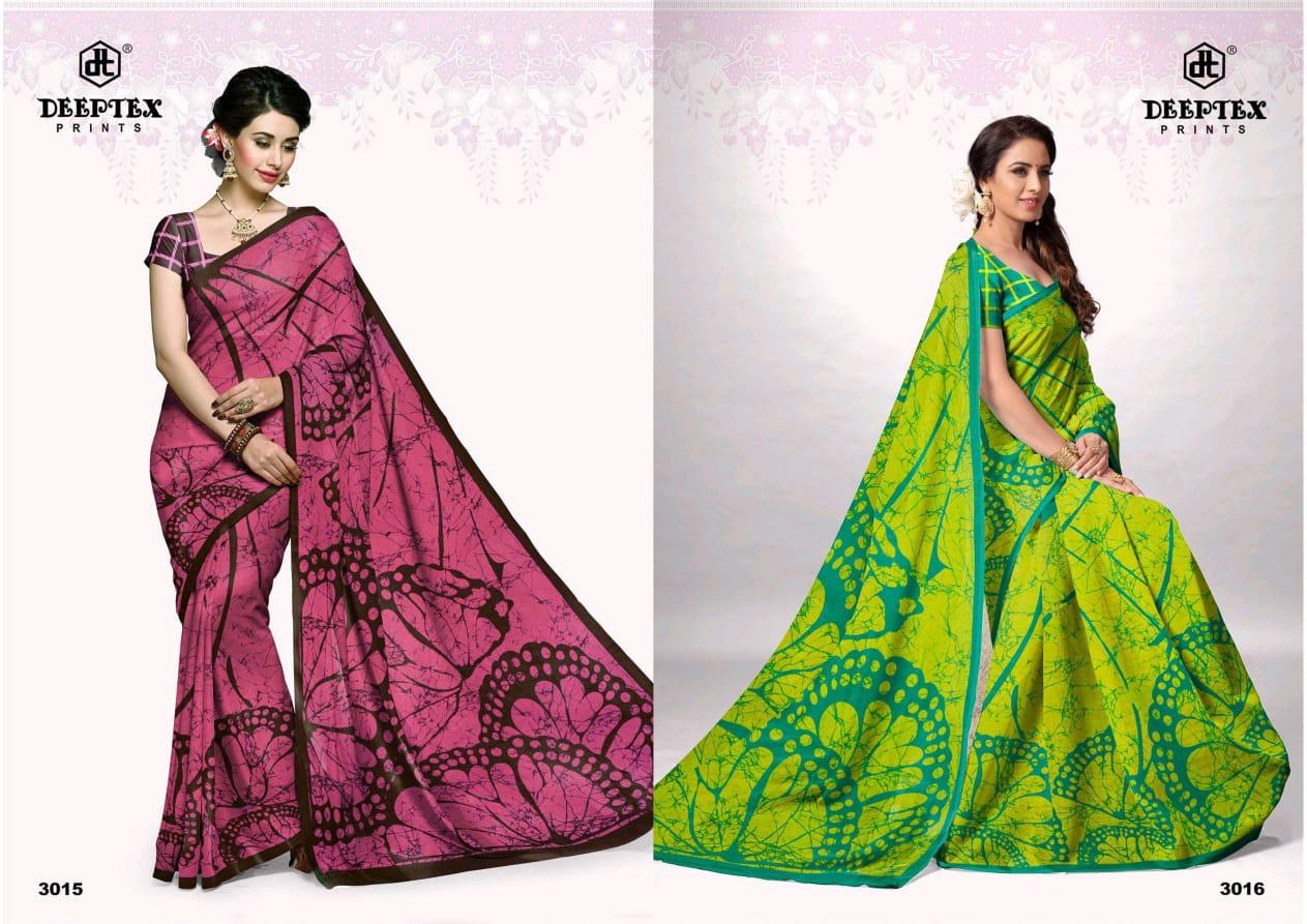 Deeptex Batik Queen Vol 3 Designer Cotton Printed Sarees Wholesale