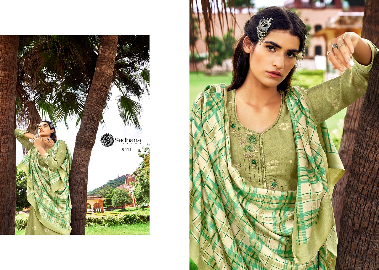 Shadhna Fashion Burberry Vol 33 Designer Pashmina Suit With Fancy Work In Best Wholesale Rate
