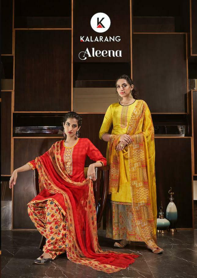 Kalarang Aleena Designer Jam Satin With Embroidery Work Suits Wholesale