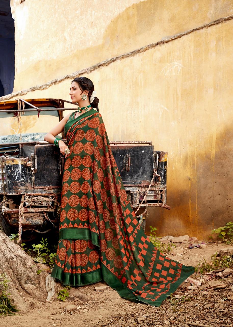 Lt Fashion Swastika Designer Linen Satin Sarees Wholesale