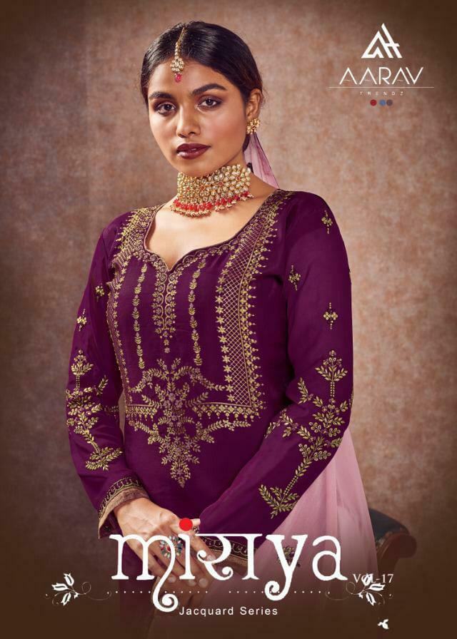 Aarav Trendz Miraya Vol 17 Designer Meenakari Jacquard Silk Sharara Suits Wholesale