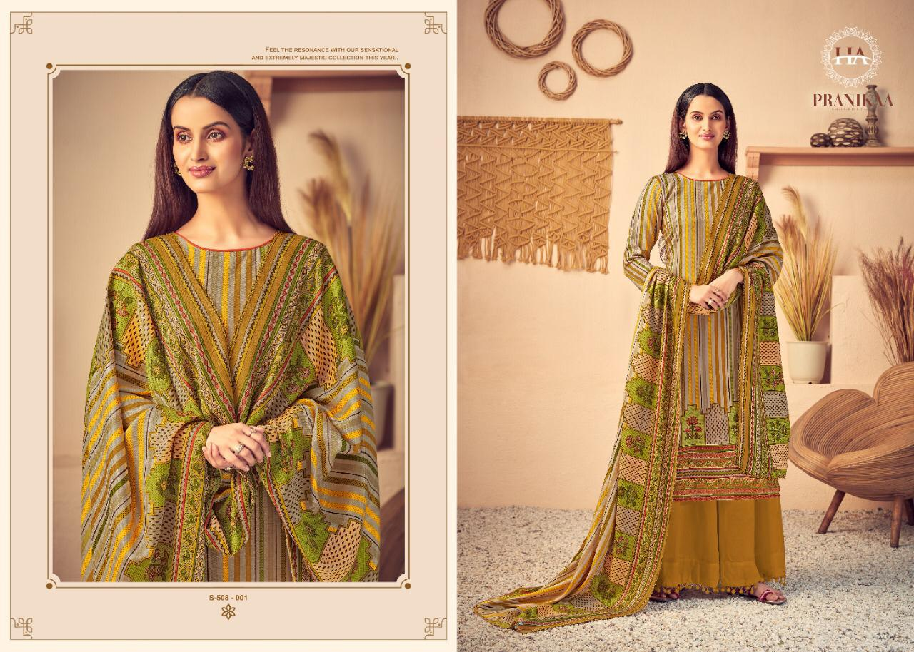 Harshit Fashion Hub Alok Suit Pranikaa Designer Wool Pashmina Digital Printed Suits Wholesale