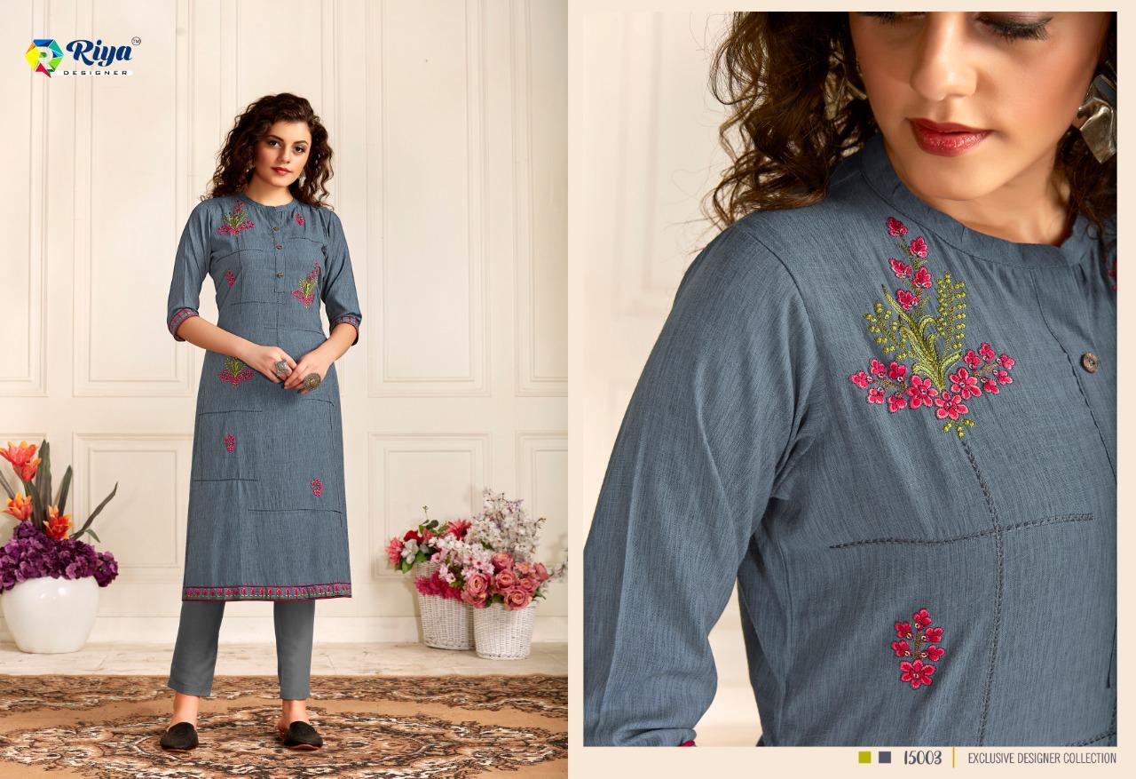 Riya Designer Star Girl Designer Rayon Sequence Work Kurtis Wholesale