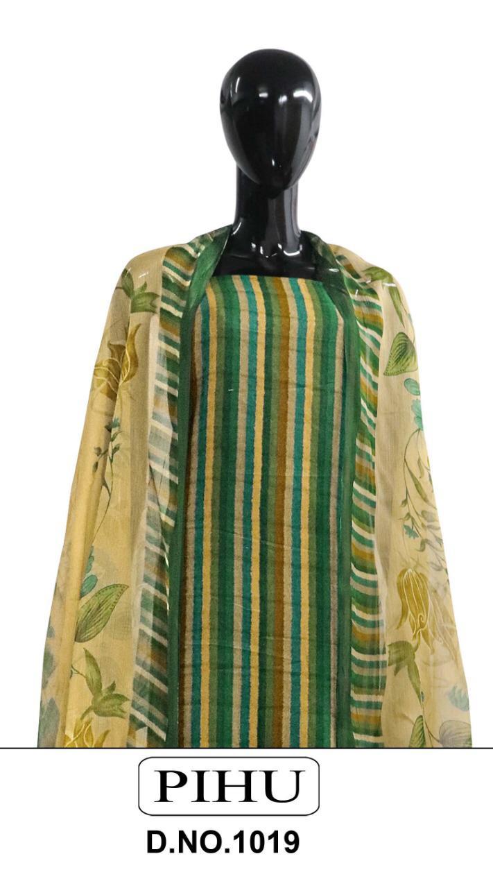 Pihu Pashmina Series 1019 Designer Pure Pashmina Printed Suits Wholesale
