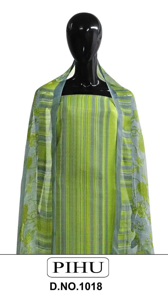 Pihu Pashmina Series 1018 Designer Pure Pashmina Printed Winter Wear Suits Wholesale
