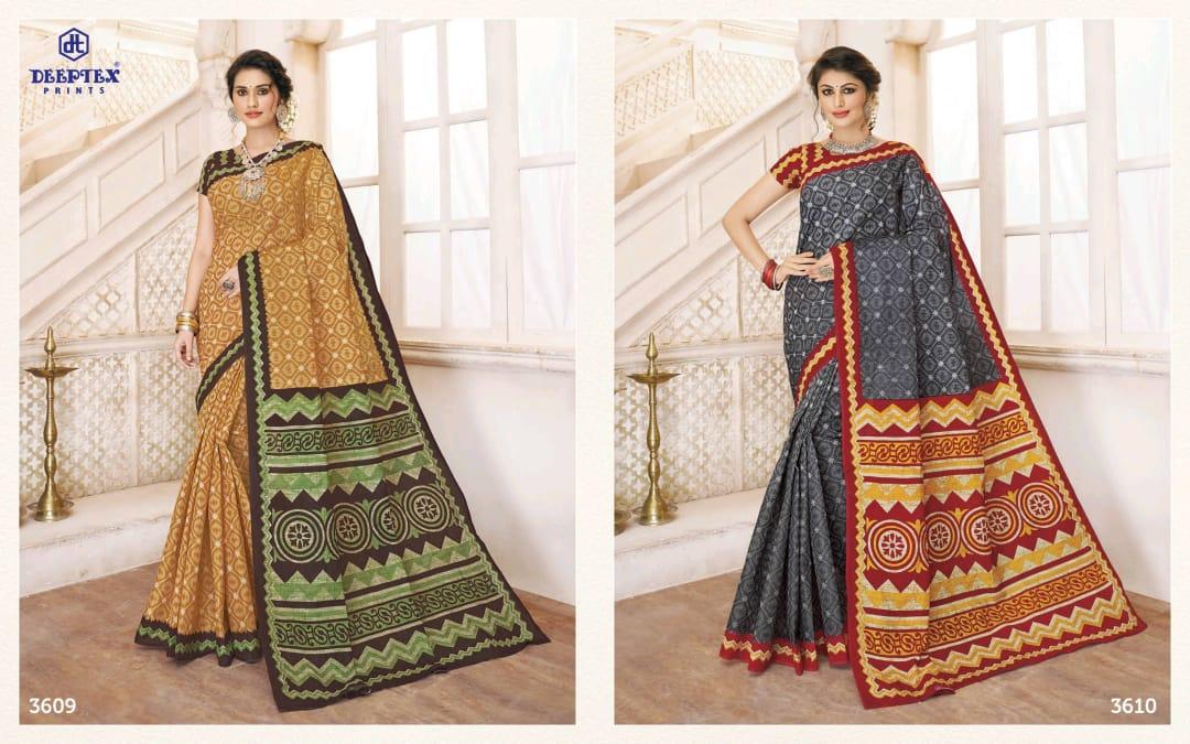 Deeptex Mother India Vol 36 Designer Cotton Printed Low Range Sarees Wholesale