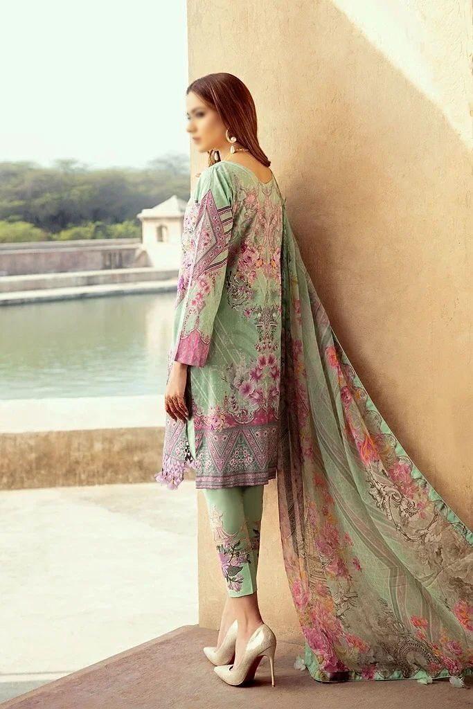 Al Meera D.1204,d.1205 Chevron Designer Luxury Lawn Embroidery With Fully Digital Printed Heavy Partywear Suits Wholesale