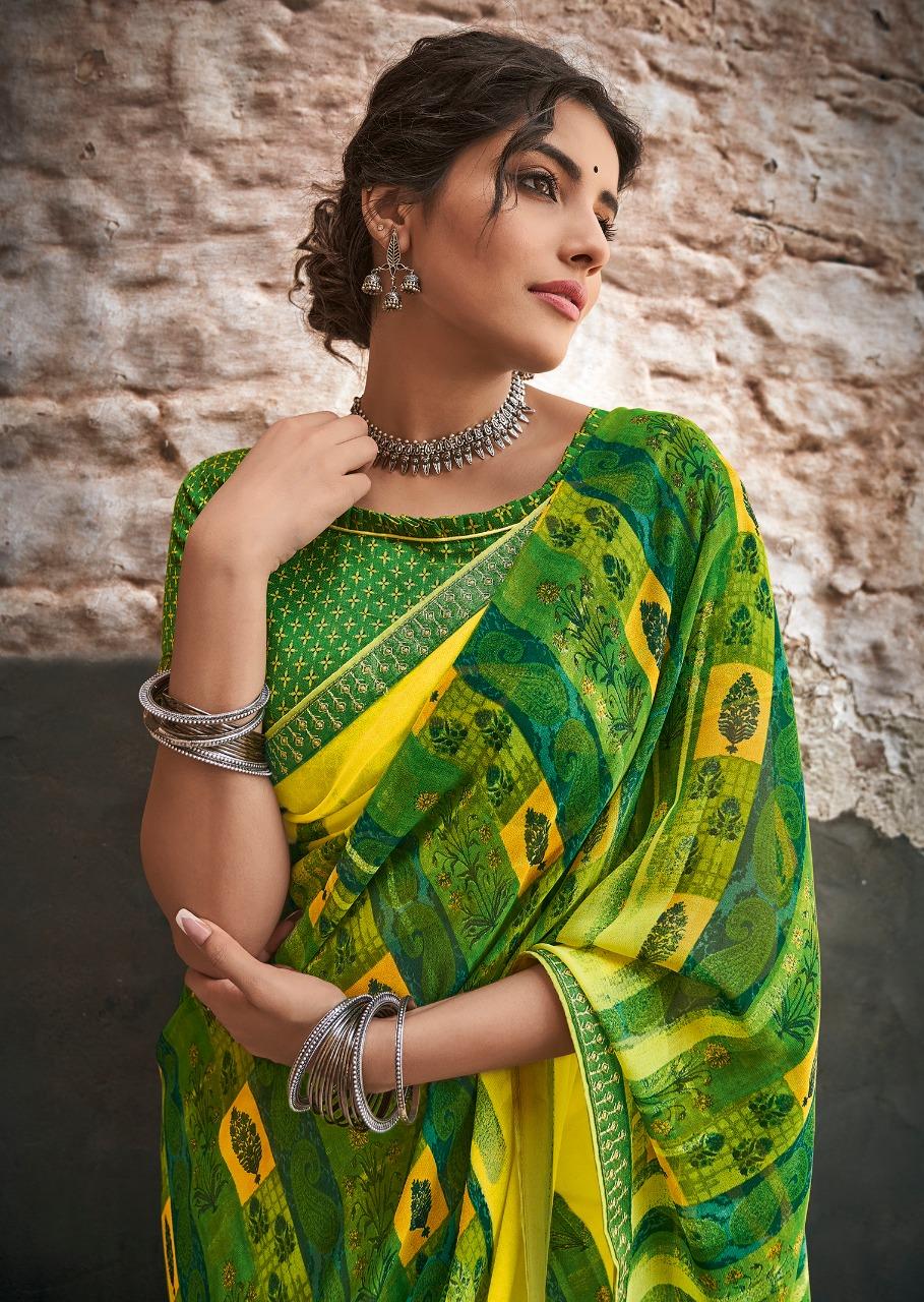 Kashvi Creation Adaa Georgette With Border Sarees Wholesale