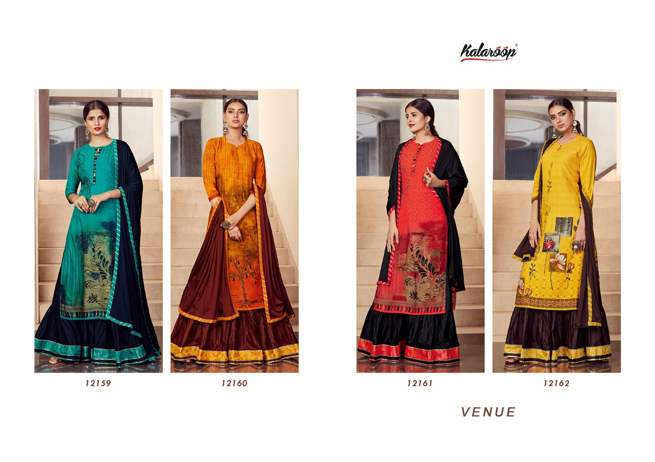 Kalaroop Venue Designer Rayon Digital Print Lehenga Suits Wholesale