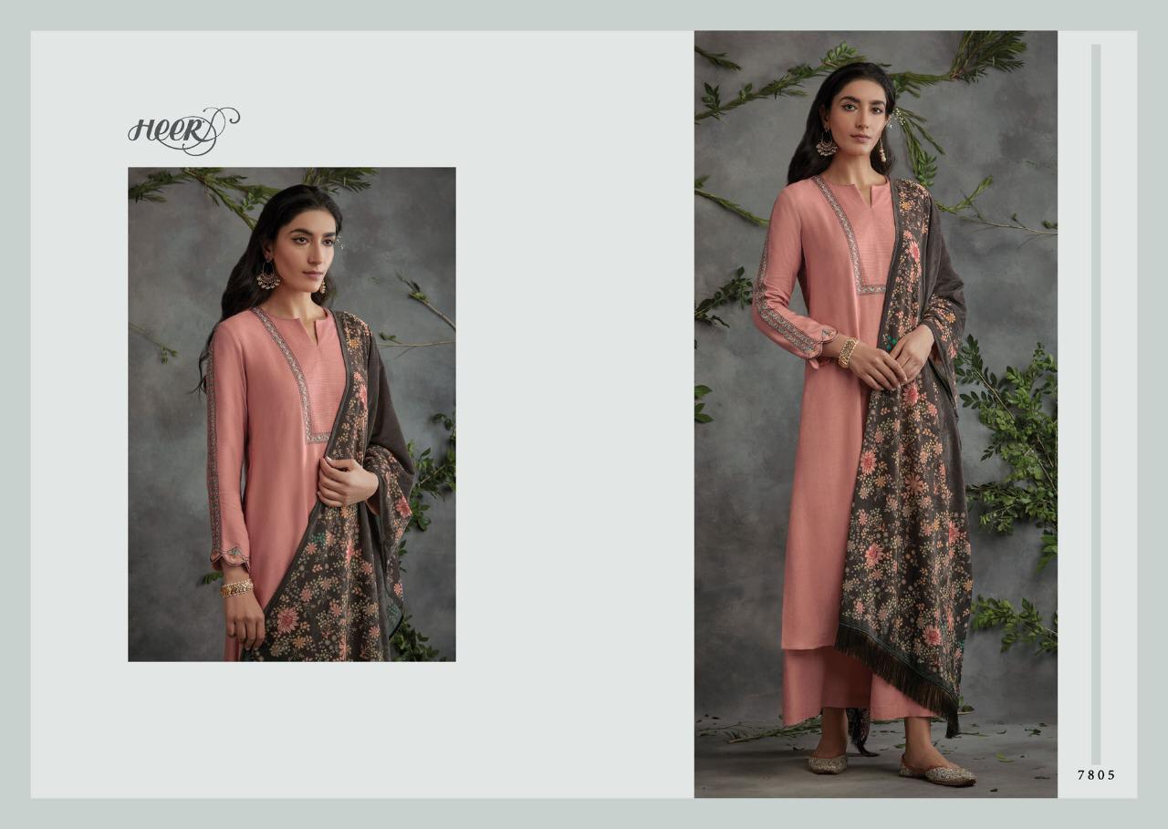 Kimora Tarana Designer Pashmina Diamo Work Suit With Stole Velvet Dupatta Wholesale