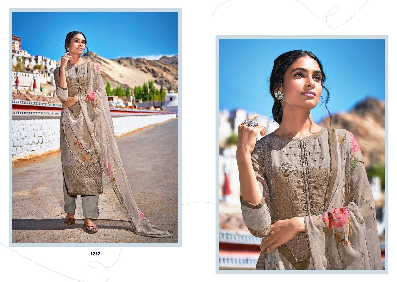 Laxmimaya Aarfa Designer Twill Pashmina Digital Print With Exclusive Embroidery Work Suits Wholesale