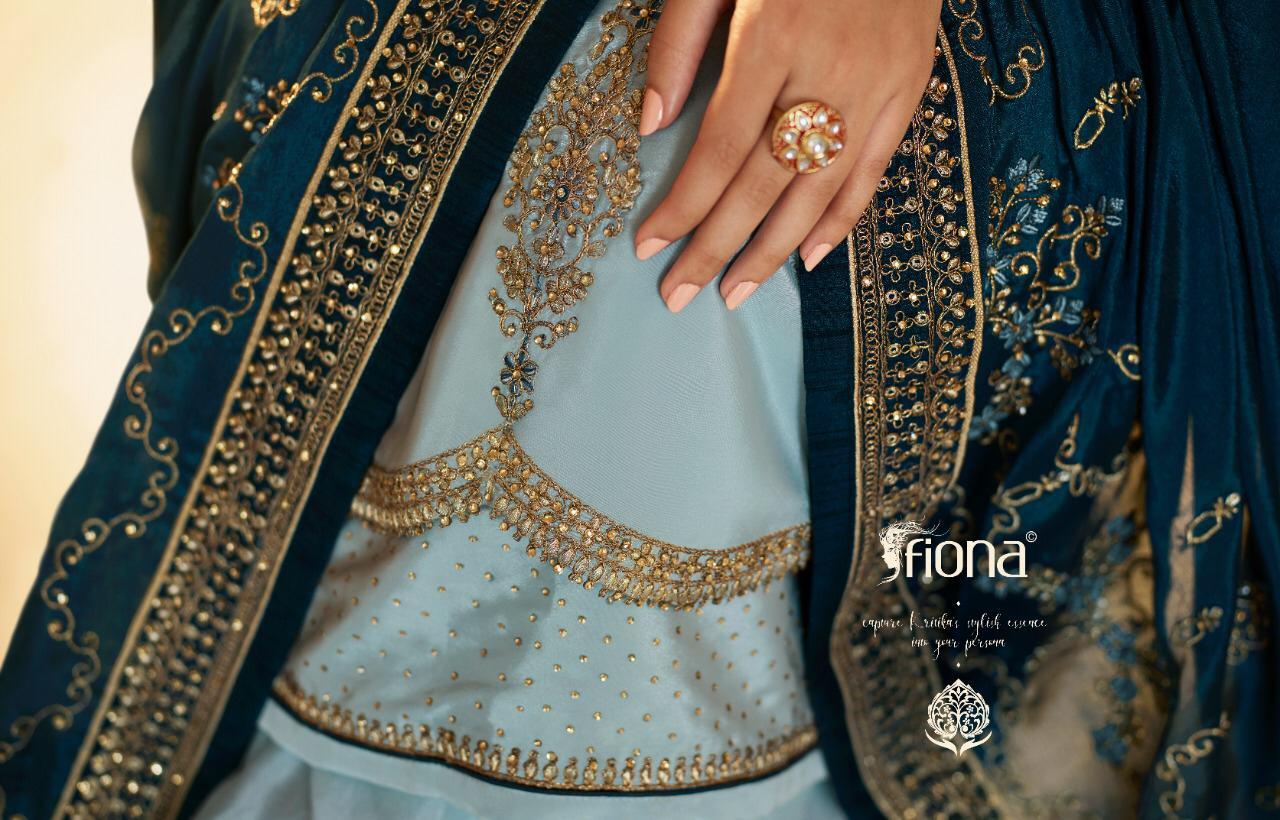 Fiona Ameena Designer Satin Muslin Heavy Georgette Work Suits Wholesale
