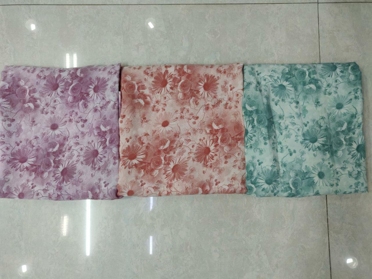 Victoria Fancy Printed Unstitched Crepe Dress Materials Wholesale
