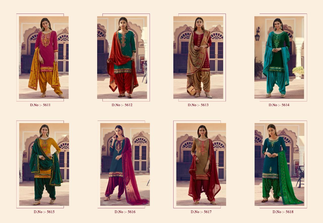 Kessi Patrani Designer Cotton Satin With Work Suits Wholesale