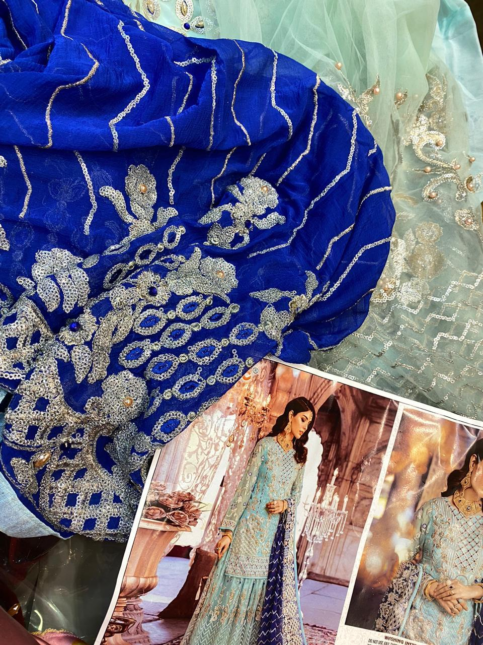 Fepic Rosemeen Brides Designer Heavy Georgette Wedding Wear Suits In Singles