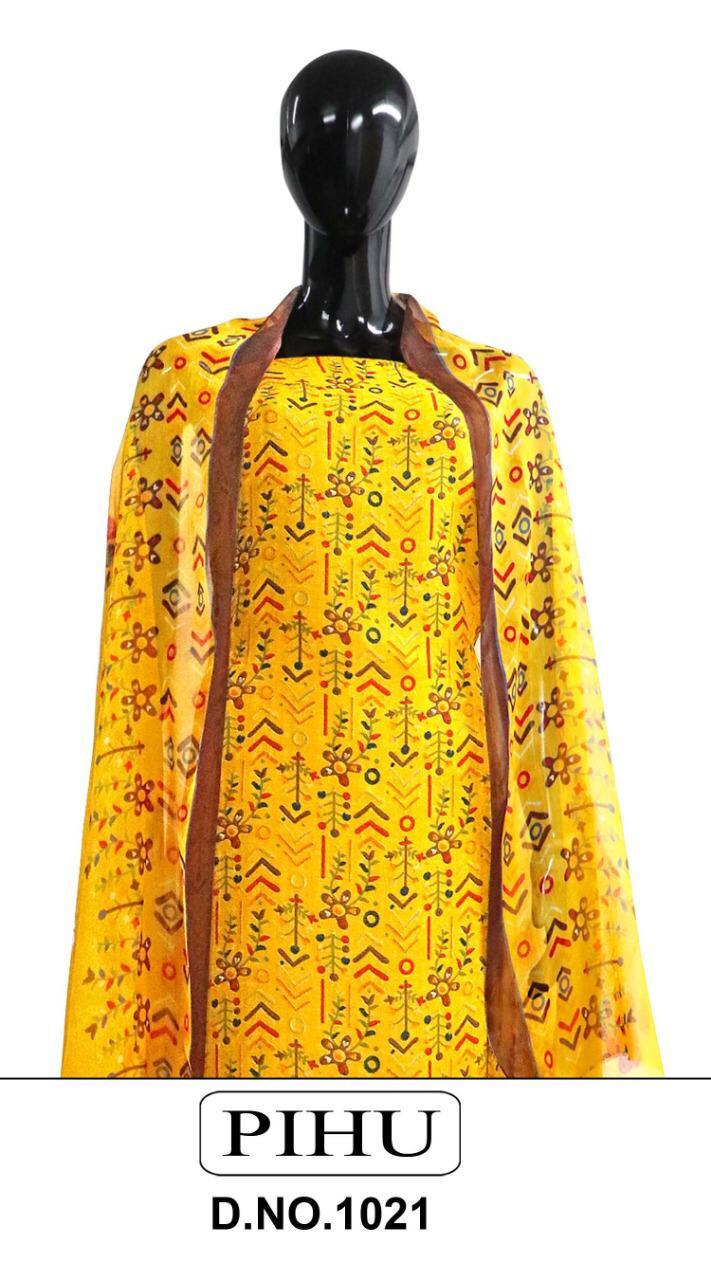 Jain Tex Pihu 1021 Series Designer Pashmina Printed Suits Wholesale