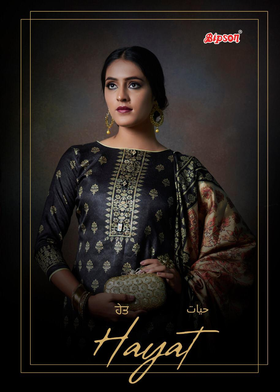 Bipson Hayat 1096 Series Designer Tusser Silk Digital Printed Suits Wholesale
