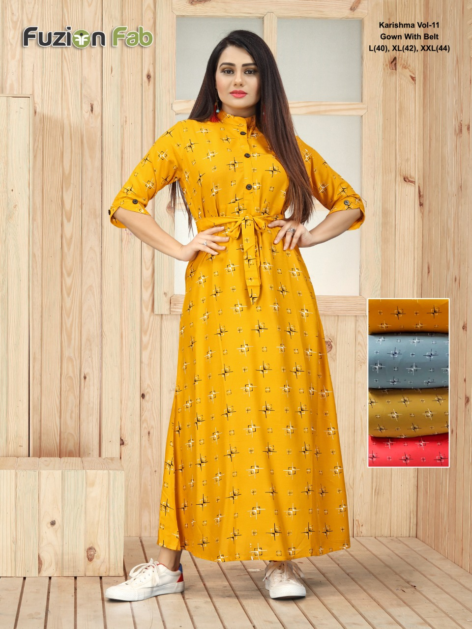 Fuzion Fab Karishma Vol 11 Designer Heavy Rayon Gowns In Lowest Price Wholesale