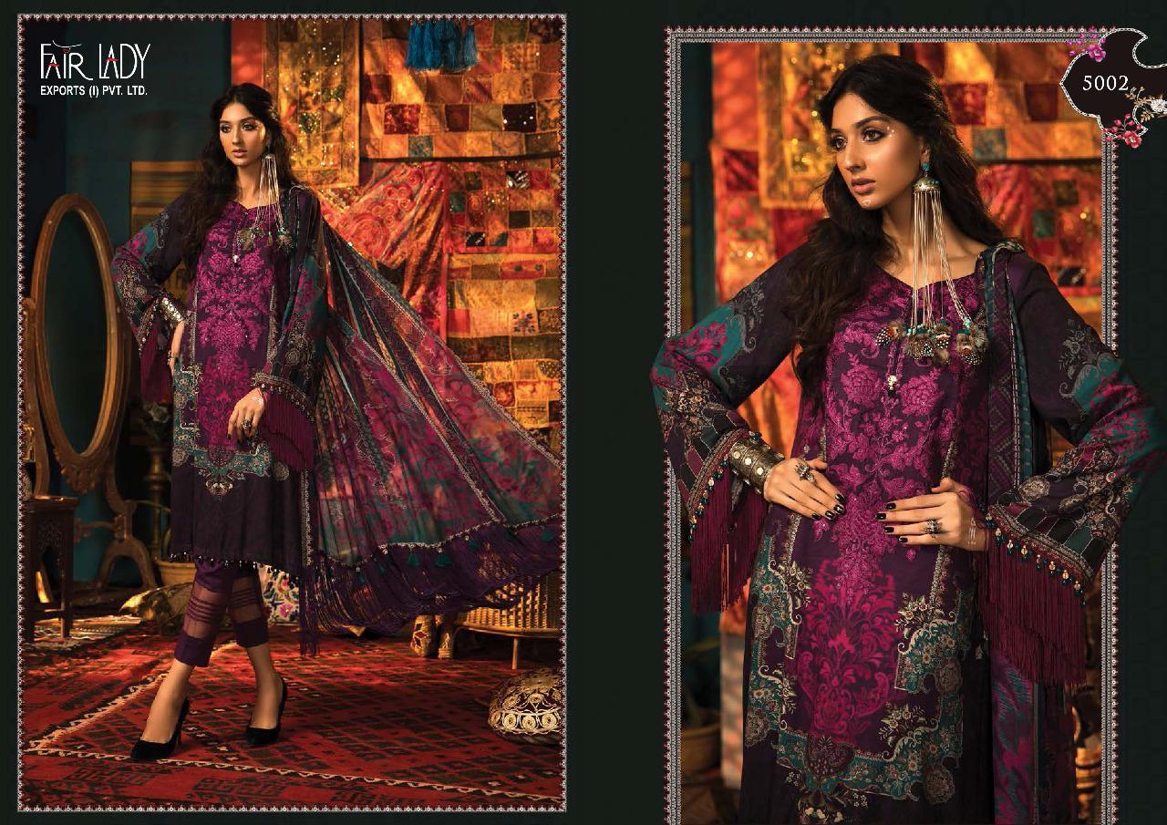 Fair Lady Maria B M Prints Designer Pashmina Dobby Embroidery Patches Pakistani Pettern Suits Wholesale