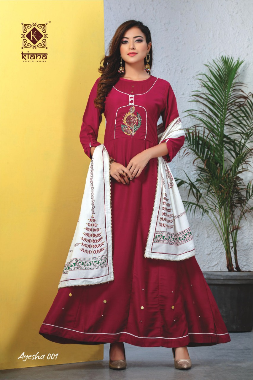 Kiana Ayesha Designer Heavy Festive Wear Stitched Dresses Wholesale