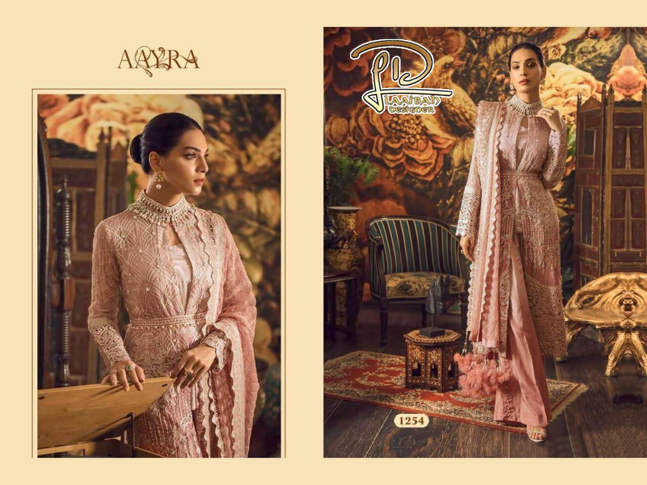 Aayra 1254 Designer Fox Georgette With Embroidery Work Suits In Single
