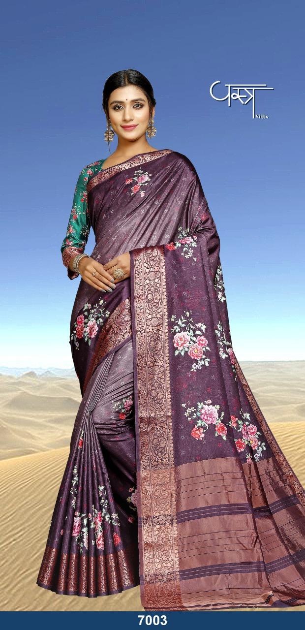 Vastra Villa Kyaara Designer Viscose Silk Sarees Wholesale