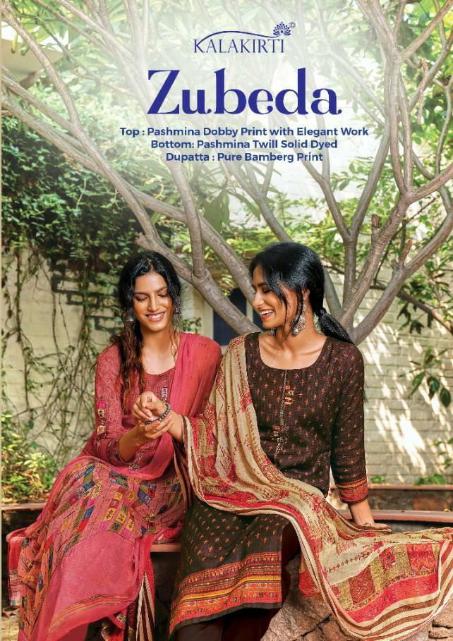 Zubeda Kalakriti Designer Pashmina Dobby Print With Elegant Work Suits Wholesale