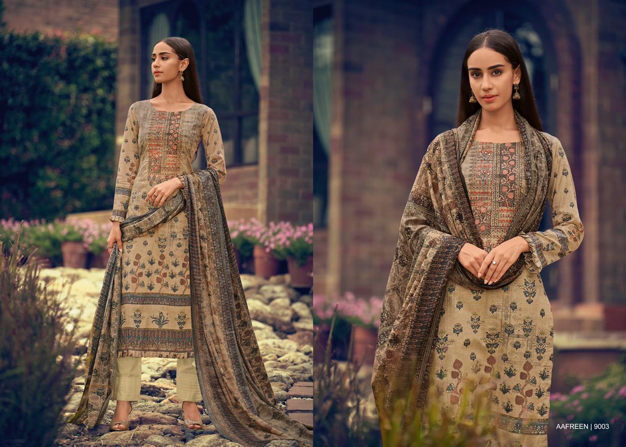 Mumtaz Arts Aafreen Nx Barik Embroidery Work Karachi Suits Hit Designs Single