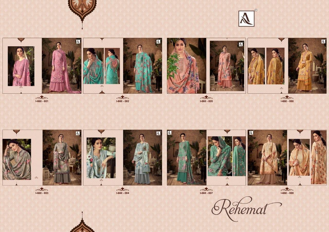 Alok Suit Rehmat Designer Viscous Velevet Digital Print With Swarovski Work And Diamond Work Suit Wholesale