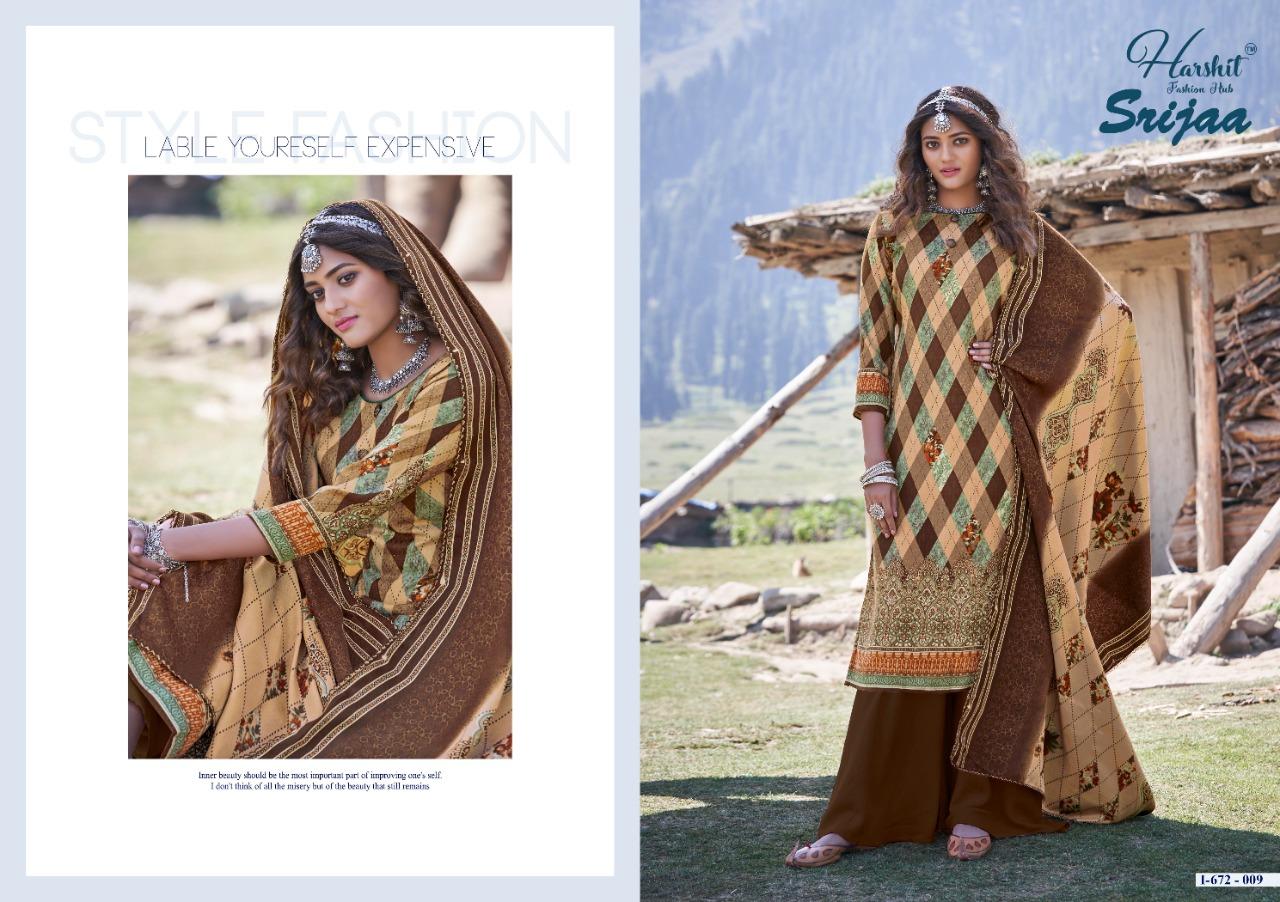 Harshit Fashion Hub Alok Suit Srijaa Designer Pashmina Digital Printed Suits Wholesale