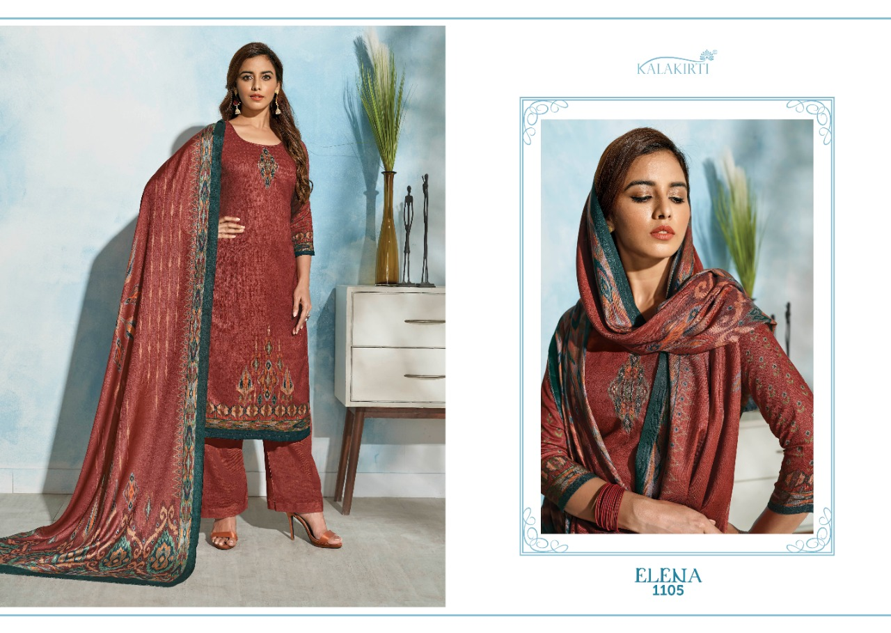 Kalakriti Elena Designer Pashmina Dobby Print With Handwork Suits Wholesale