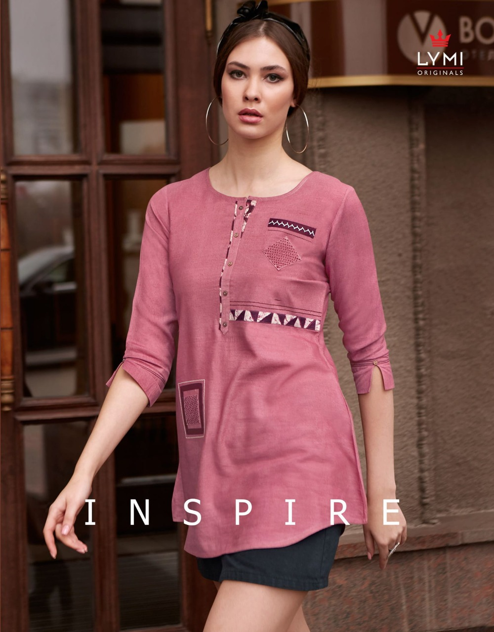 Kessi Lymi Inspire Rayon Flex Cut With Embroidery Work Tops Wholesale