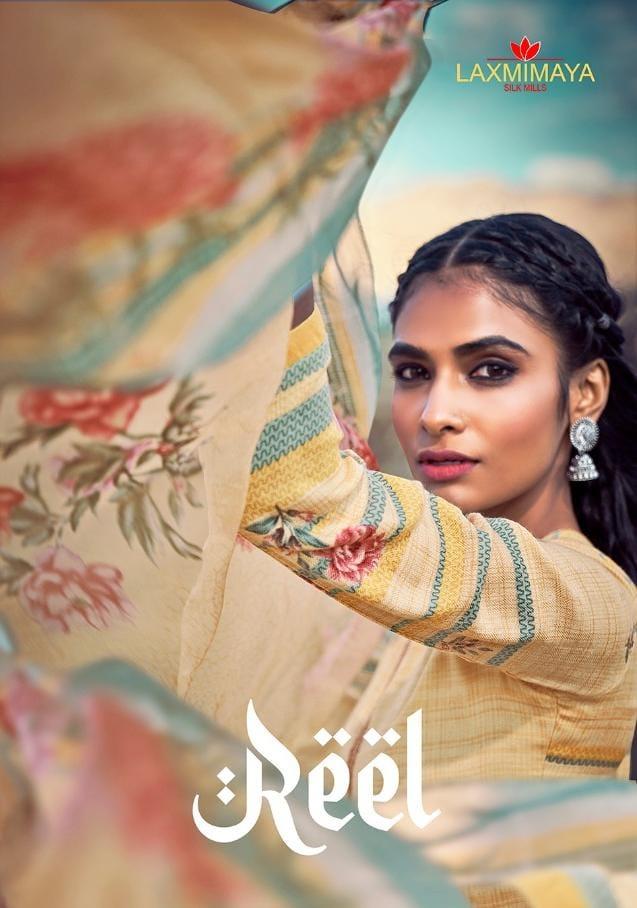 Laxmimaya Silk Mills Reel Designer Twill Pashmina Digital Embroidery Work Suits Wholesaleprint With