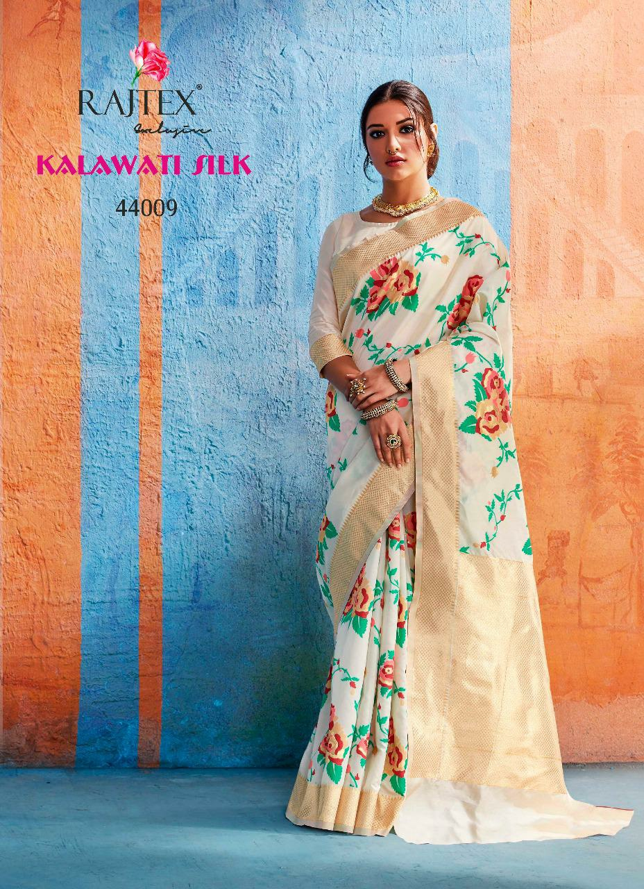 Rajtex Kalawati Silk Designer Banarasi Silk Jacquard Sarees Wholesale