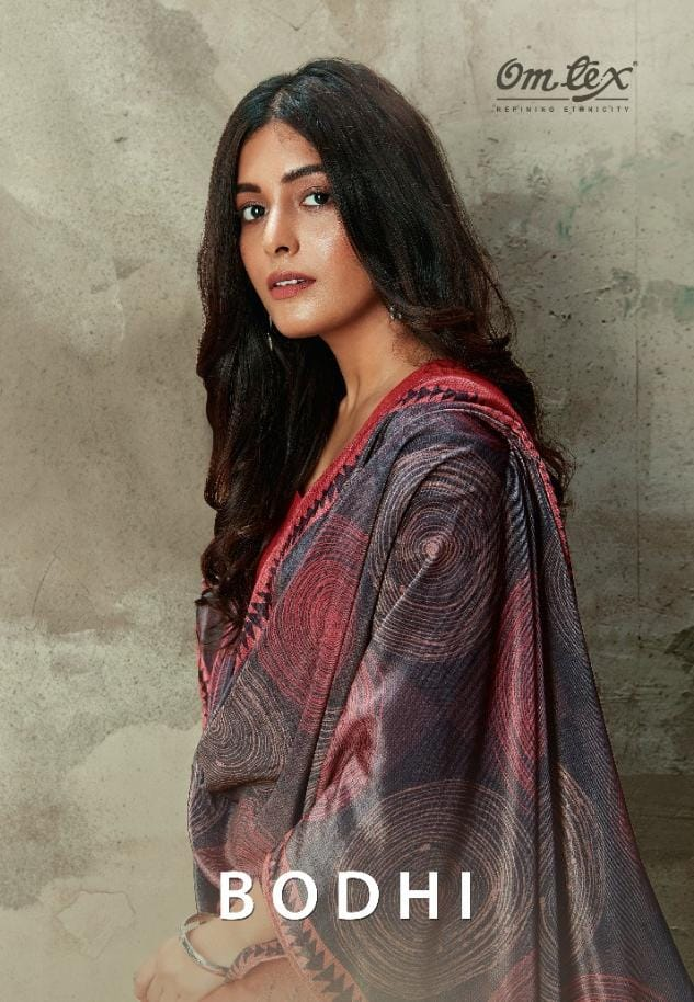 Omtex Bodhi Pashmina Digital Print With Handwork Suits Wholesale