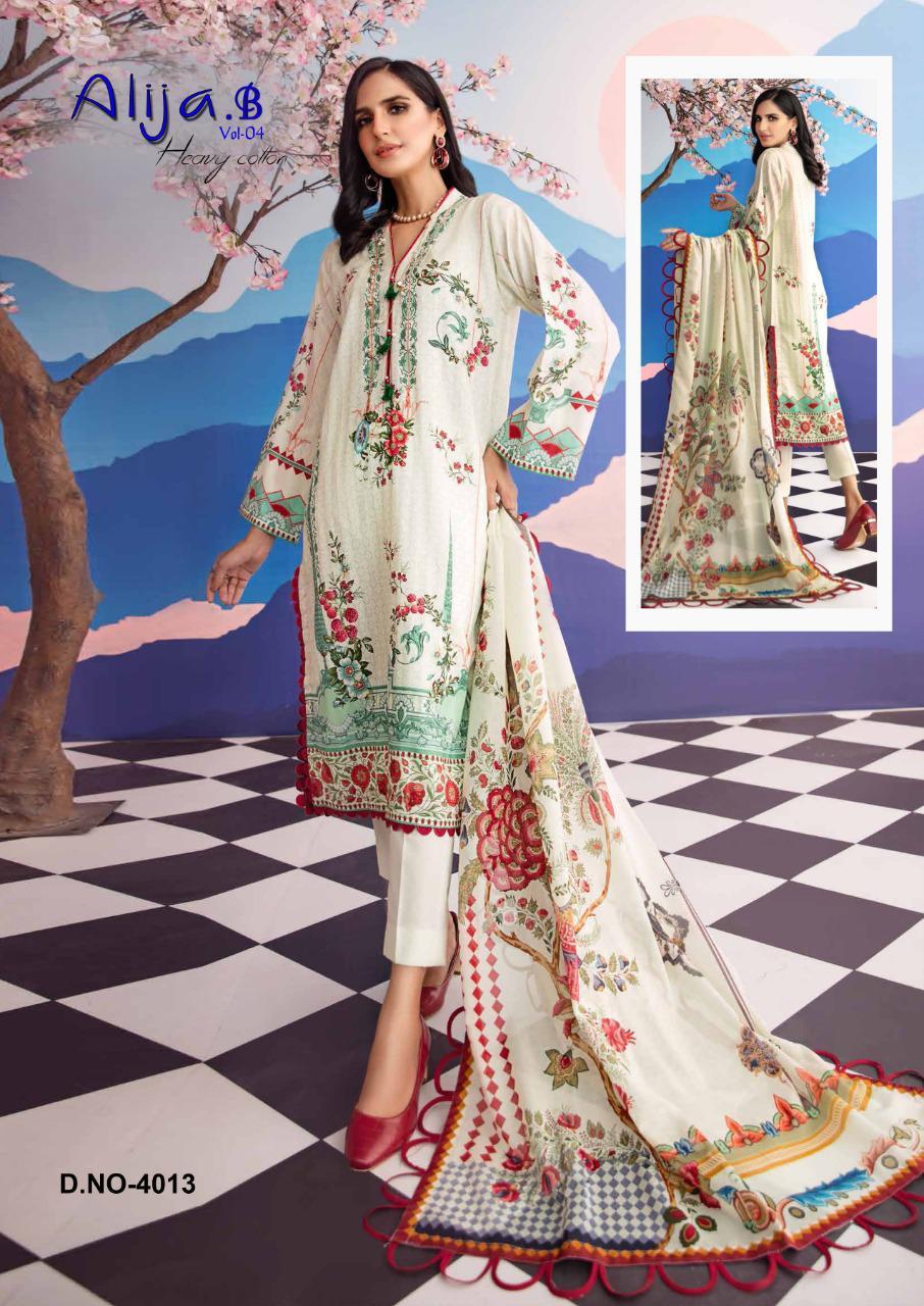Keval Fab Alija B Vol 4 Designer Heavy Cotton Printed Suits Wholesale
