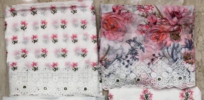 Mumtaz Arts Summer Sunshine V 1 Designer Pure Lawn With Full Shirt Embroidery Work Shifly And  Fancy Work Suits Wholesale